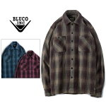 BLUCOWORKGARMENT/ブルコHEAVYNELSHIRTS-ombrecheck-/オンブレーチェックシャツ・3color