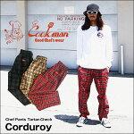 COOKMAN/クックマンChefPants「CorduroyTartan」/シェフパンツタータンチェックコーデュロイ・3color