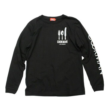 COOKMAN/クックマン Long sleeve T-shirts「Flag」/ロングスリーブTシャツ・BLACK