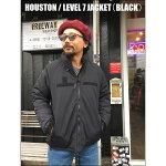 HOUSTON/ヒューストンLEVEL7JACKET/レベル7ジャケット・BLACK
