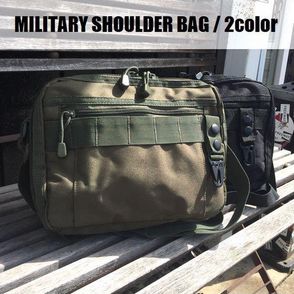 男女兼用バッグ, ショルダーバッグ・メッセンジャーバッグ MILITARY SHOULDER BAG2color