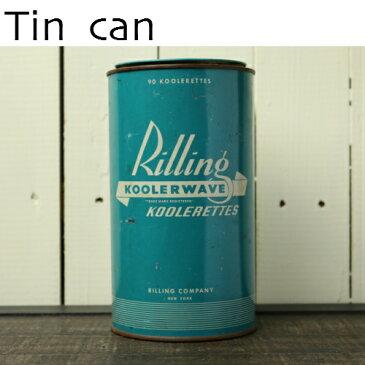 フランス雑貨 ヴィンテージ tin缶 アメリカ ニューヨーク 小物入れ アンティーク