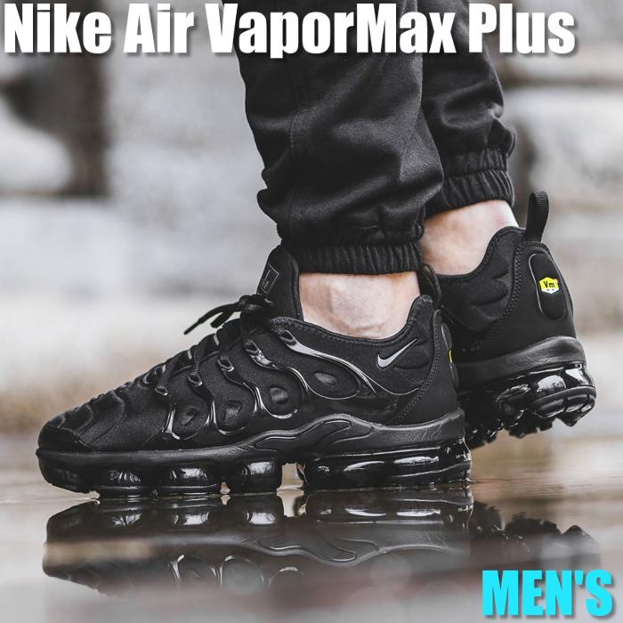 メンズ靴, スニーカー !!Nike Air VaporMax Plus Triple Black 924453-004