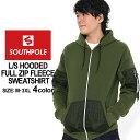 サウスポール パーカー ジップアップ メンズ 裏起毛|大きいサイズ USAモデル ブランド SOUTH POLE|スウェット XL XXL LL 2L 3L (clearance)