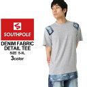 サウスポール Tシャツ 半袖 ロング丈 デニム ダメージ加工 メンズ|大きいサイズ USAモデル ブランド SOUTH POLE|半袖Tシャツ ストリート XL XXL LL (clearance)