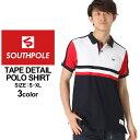 サウスポール ポロシャツ 半袖 メンズ|大きいサイズ USAモデル ブランド SOUTH POLE|半袖ポロシャツ ストリート XL XXL LL 2L 3L (clearance)