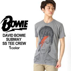 【送料無料】 デヴィッド・ボウイ ロックTシャツ 半袖 メンズ プリント 大きいサイズ USAモデル David Bowie 半袖Tシャツ バンドT ロゴT ミュージック グラムロック アラジン・セイン おしゃれ