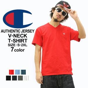 チャンピオン Tシャツ 半袖 無地 メンズ Vネック 大きいサイズ USAモデル|ブランド 半袖Tシャツ ロゴ アメカジ|Champion
