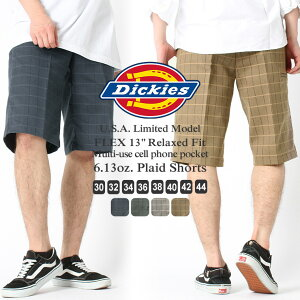 【送料無料】 Dickies ディッキーズ ハーフパンツ メンズ チェック [Dickies ディッキーズ ハーフパンツ 大きいサイズ メンズ ディッキーズ ショートパンツ チェック チェックショーツ アメカジ メンズ] (USAモデル)【COP】