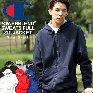 【送料無料】 Champion チャンピオン パーカー メンズ スウェット ジップアップパーカー 大きいサイズ メンズ power blend USAモデル (s0891) 【COP】