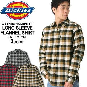 【送料無料】 ディッキーズ シャツ 長袖 チェック柄 メンズ ネルシャツ|大きいサイズ USAモデル Dickies|長袖シャツ フランネルシャツ XL XXL LL 2L 3L 【W】 (clearance)