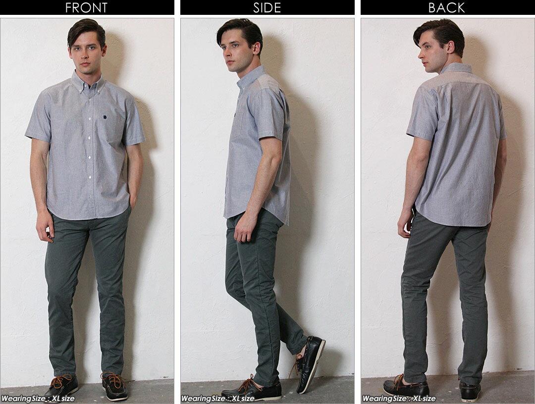 送料無料 シャツ メンズ 半袖 オックスフォードシャツ ボタンダウンシャツ 《EAGLE THE STANDARD》 [日本規格] (メンズファッション カジュアルシャツ メンズ 半袖 大きいサイズ ボタンダウン オックフフォード シャツ メンズ カジュアル コットンシャツ メンズシャツ)