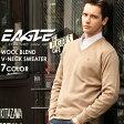 【送料無料】EAGLE THE STANDARD イーグル セーター メンズ Vネック ニット 日本製 [日本規格] (eagle-30001) ニット セーター メンズ ウール 無地 vネック ニット メンズ Vネックセーター 黒 ブラック ネイビー 大きいサイズ LL 2L made in japan