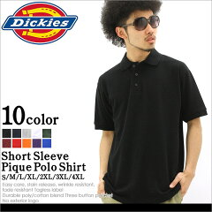 Dickies ディッキーズ ポロシャツ 半袖 メンズ 大きいサイズ ≪USAモデル≫ (ks5552) [ディッキーズ dickies 半袖 ポロシャツ メンズ 大きいサイズ 鹿の子 無地 黒 白 ブラック ホワイト ネイビー アメカジ ブランド LL XL XXL XXXL 2L 3L 4L 5L]