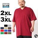 [ビッグサイズ] プロクラブ Tシャツ 半袖 Vネック コンフォート 無地 メンズ|大きいサイズ USAモデル ブランド PRO CLUB|半袖Tシャツ XXL 2L 3L