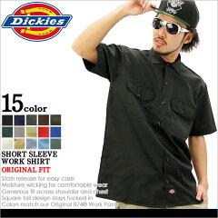【2枚で送料無料】 Dickies ディッキーズ ワークシャツ 半袖 メンズ 大きいサイズ ≪本国USAモデル≫ (1574) [ディッキーズ Dickies シャツ 半袖 メンズ アメカジ 半袖シャツ ワークシャツ 黒 ブラック ホワイト 無地 カジュアルシャツ XL XXL 2XL LL 2L 3L 4L] 【Yep_100】