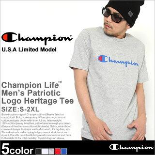ChampionチャンピオンTシャツメンズ半袖ストリートビッグロゴ(t1919p-549322)(USAモデル)[チャンピオンChampionTシャツ半袖メンズ大きいサイズ半袖Tシャツチャンピオンビッグロゴヘビーウェイト厚手7.5オンスtシャツアメカジchampionusaXLXXL2XLLL2L]