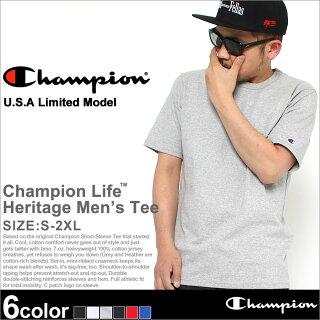 ChampionチャンピオンTシャツメンズ半袖無地ストリート(t1919)(USAモデル)[チャンピオンChampionTシャツ半袖メンズ大きいサイズ半袖TシャツTシャツ無地ヘビーウェイト厚手7オンスtシャツアメカジブランドchampionusa大きいXLXXL2XLLL2L]