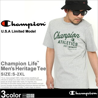 ChampionチャンピオンTシャツメンズ半袖ロゴストリート(t1919p)(USAモデル)[チャンピオンChampionTシャツ半袖メンズ大きいサイズ半袖Tシャツカレッジロゴプリントヘビーウェイト厚手7.5オンスtシャツアメカジブランドchampionusa大きいXLXXL2XLLL2L]