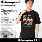 チャンピオンchampionチャンピオンtシャツメンズ半袖ストリート[gt19-y06328]│Championチャンピオンtシャツメンズ半袖tシャツ大きいサイズメンズtシャツアメカジtシャツtシャツロゴChampionLife小さいサイズXSSSXLXXLLL2L3L│(USAモデル)