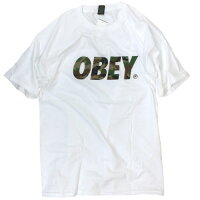 【OBEY】【Tシャツ】OBEYカモフラロゴTシャツ