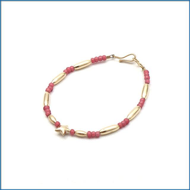 男女兼用アクセサリー, ブレスレット THE BINGO BROTHERS Beads x Gold Pipe Star PINK 469000246039