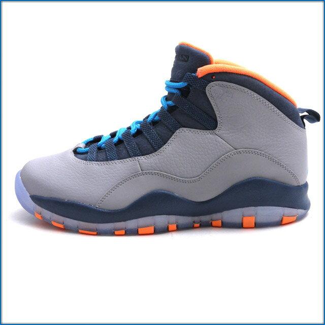 メンズ靴, スニーカー  NIKE AIR JORDAN 10 RETRO WOLF GREYDARK POWDER BLUENEW SLATEATOMIC ORANGE 310805026 403000190302