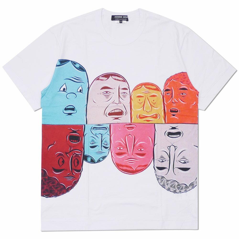 トップス, Tシャツ・カットソー COMME des GARCONS HOMME DEUX x Barry McGee FACE TEE T WHITE 200007709040