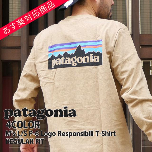 トップス, Tシャツ・カットソー 14:00 Patagonia 19FW Ms LS P-6 Logo Responsibili T-Shirt T REGULAR FIT 39161 2019FW