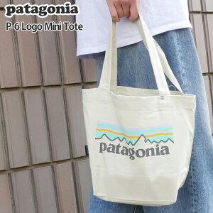【14:00までのご注文で即日発送可能】新品 パタゴニア Patagonia P-6 Logo Mini Tote トートバッグ エコバッグ Pastel P-6 Logo Bleached Stone ベージュ PLBE 59275 メンズ レディース 新作