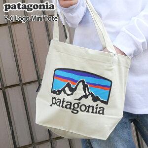 【14:00までのご注文で即日発送可能】新品 パタゴニア Patagonia P-6 Logo Mini Tote トートバッグ エコバッグ Pastel P-6 Logo Bleached Stone ベージュ FRHB 59275 メンズ レディース FA19 新作 277-002706-016