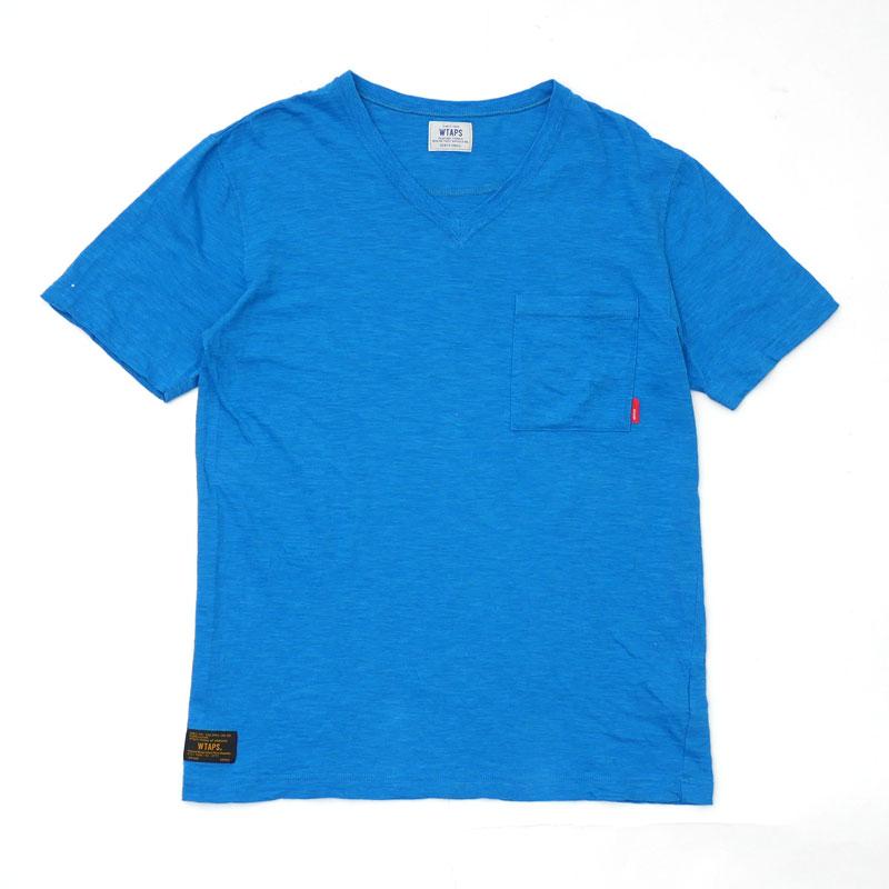 トップス, Tシャツ・カットソー  WTAPS 14SS BLANK SS-V 02 TEE V T BLUE S 2014SS 104003041 (T)