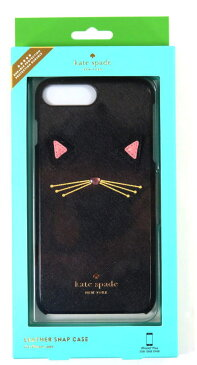 kate Spadeケイトスペード iphone 7 puls iphone8 puls アイフォン7プラス アイフォン8プラス WIRU0605 cat applique キャットアップリケ スマホケース 046