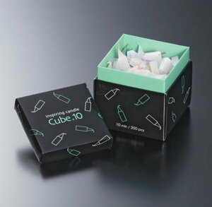 ミニローソク Cube10 キューブテン 【東海製蝋/10分ローソク/使い切りローソク】 扱いやすく安心・安全なミニローソク