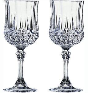 クリスタル・ダルク ロンシャン ワインペア (L7552A) 【ブランド/ペアグラス/ワイングラス/人気/新築祝い/結婚祝い/ギフト/プレゼント/引き出物】