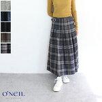 O'NEILOFDUBLIN(オニールオブダブリン)ウールプリーツラップスカート