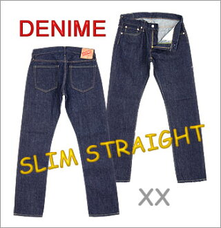 """◆ DENIME JAPAN (denime japan) Slim straight Jeans [5012-0075-OW] ☆ """"XX"""" Material, XX Type Jeans ☆ [Made in JAPAN] (Washed) (Low Rise)"""