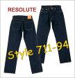 ■ RESOLUTE(リゾルト ジーンズ) XX model711-94(ワンウォッシュ)[29〜34inch](XXモデル/JEANS/日本製/レプリカ/ヴィンテージ/林さん)