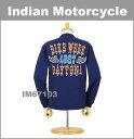Indian Motorcycle(インディアン モーターサイクル) 長袖Tシャツ [DAY TONA] [IM67103] (長袖/Tシャツ/ロンT/ヒビ割れプリント/メンズ/アメカジ/アメリカ製)