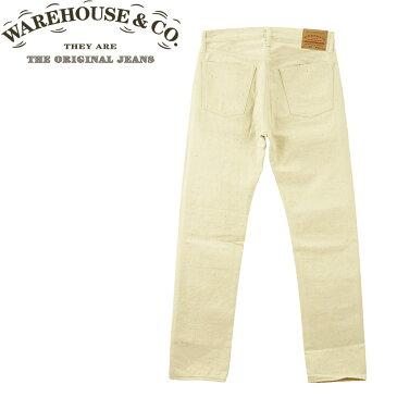 ■ WAREHOUSE (ウエアハウス ジーンズ)(900-NA) 20周年記念 Lot.900 ホワイト ジーンズ 12oz (マザーコットン/ノンウォッシュ)(リジッド/テーパードスリム/JEANS/日本製/メンズ/ヴィンテージ)10P18Jun16