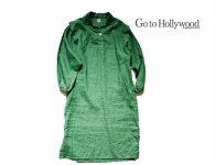 【送料無料】2019S/SGotoHollywoodゴートゥハリウッド1292904リネンキャンバスワンピース【150〜160cm】【8グリーン】