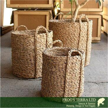 Lush Basket・S・B9260(直径34cm×H35cm)(底穴なし)(植物繊維)(植木鉢/鉢カバー)(プランター/園芸/寄せ植え/ポット)
