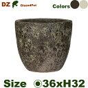 DZ ラウンド S(直径36cm×H32cm)(穴あり)陶器製 観葉鉢 大型ポット 商業施設 1