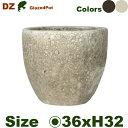 DZ ラウンド S(直径36cm×H32cm)(穴あり)陶器製 観葉鉢 大型ポット 商業施設 2