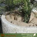 DZ ラウンド S(直径36cm×H32cm)(穴あり)陶器製 観葉鉢 大型ポット 商業施設 3
