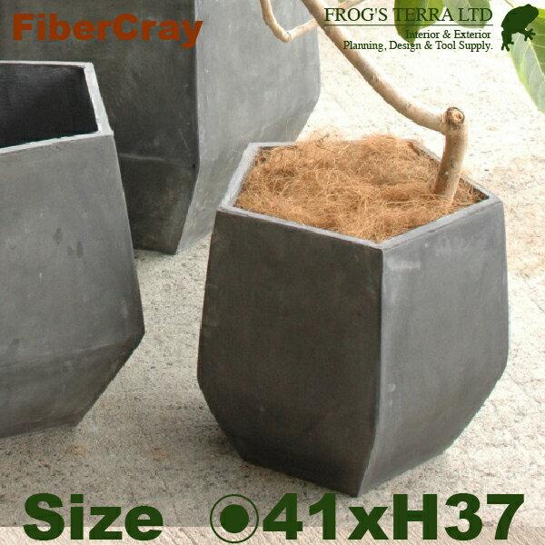 ペンタゴンポット S F9801(直径41cm×H37cm)(ファイバーグラス/ファイバークレイ)(植木鉢/鉢カバー)(底穴あり/軽量プランター)