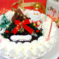【クリスマスケーキ/アイスクリーム/飾り付き】★Xmas★デコレーションアイスケーキ【送料込み】