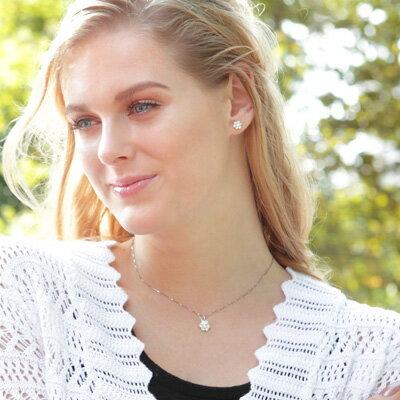 ニューヨークから直接届く!■K14ホワイトゴールドAngelaアンジェラネックレスレディース|ジュエリー誕生日プレゼント女性彼女妻結婚記念日プレゼントギフト