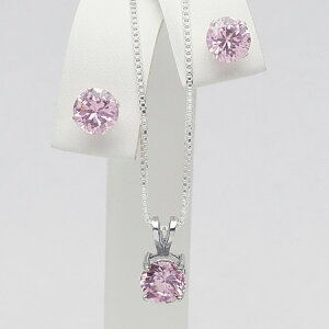 合計3.75カラット cz ピンクダイヤモンド セット【ニューヨークから送料無料で直接お届け】