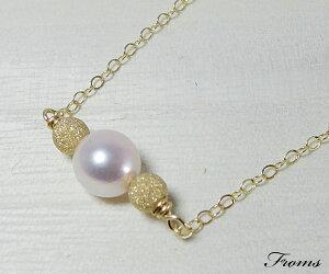 今だけ特別価格4月→5800円[レビューでポイントプレゼント]アコヤ真珠一粒ネックレス14/2…